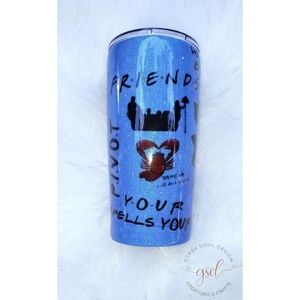 Custom FRIENDS TV Show Glitter Tumbler